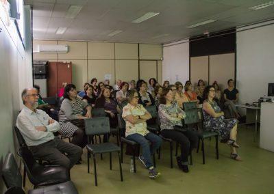 Apresentação de dois vídeos no auditório do Atelier Livre de Porto Alegre