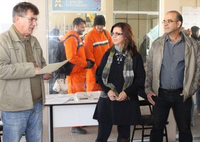 Inauguração da mostra - Prefeito Jorge Madruga, Rosana Almendares e Renato Almendares. Foto: Departamento de imprensa Prefeitura de São José do Norte