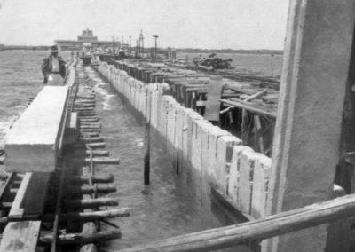 Construção do Porto de Santa Vitória do Palmar - acervo Sérgio Olivera.