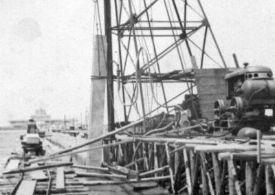 Construção do Porto de Santa Vitória - Acervo particular Sergio Olivera (fotógrafo)