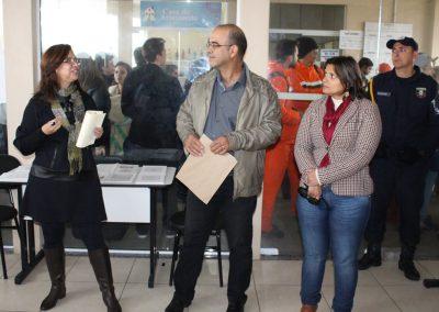 Inauguração da mostra - Rosana Almendares,  Renato Almendares, Secretária de Educação e Cultura Mônica Coelho.Foto: Departamento de imprensa Prefeitura de São José do Norte