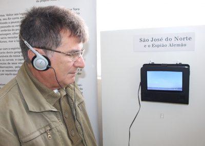 Inauguração da mostra -Prefeito Jorge Madruga. Foto: Departamento de imprensaPrefeitura de São José do Norte