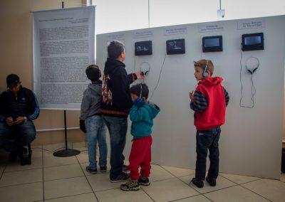 Visita de alunos à mostra Maravilhas - Hidroviária de São José do Norte