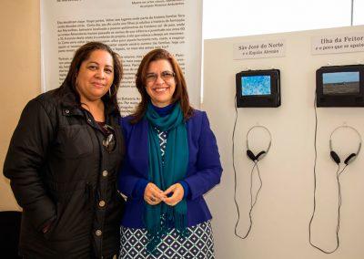 A turismóloga Jeane Costa Matos e Rosana Almendares