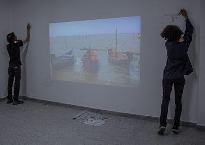 Participação dos alunos do curso de Artes Visuais - Guilherme Nader e Vinícius Rodrigues