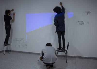Participação dos alunos do curso de Artes Visuais - Guilherme Nader, Vinícius Rodrigues e Kristopher Machado