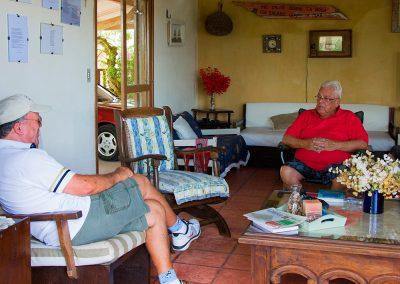 Reunião com Prof.Homero Suaya Vasques Rodrigues em sua casa na praia do Hermenegildo