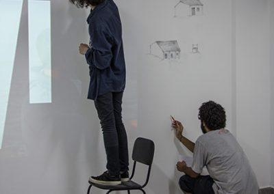 Participação dos alunos do curso de Artes Visuais - Vinícius Rodrigues e Kristopher Machado